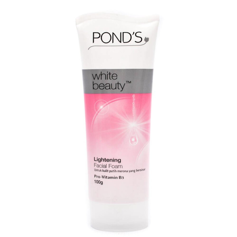 Trulum Solusi Wajah Putih Cerah Merona: Jual POND'S White Beauty Lightening Facial Foam 100g